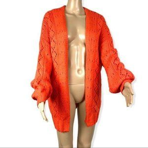 Billabong Opened knit orange cardigan